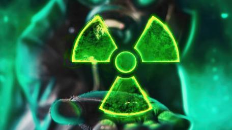 Neon radioactive sign wallpaper