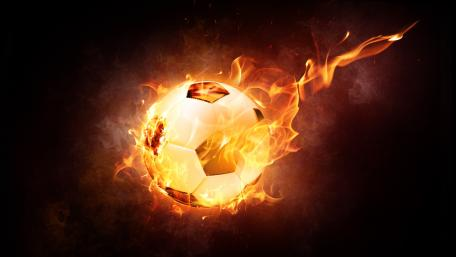 Football is on fire wallpaper