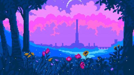 Cartoon flowers wallpaper