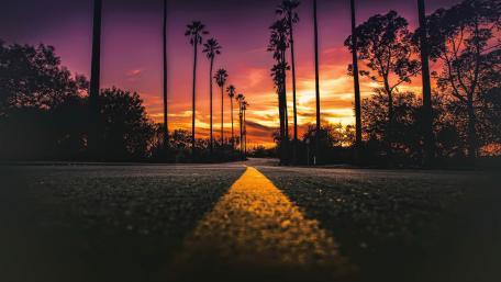 Los Angeles sunset wallpaper