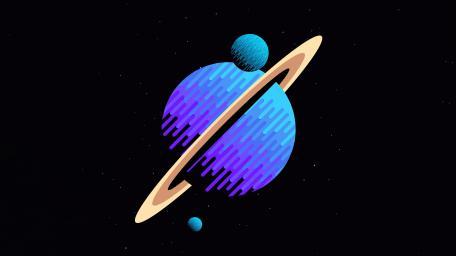 Planets Bit Art wallpaper