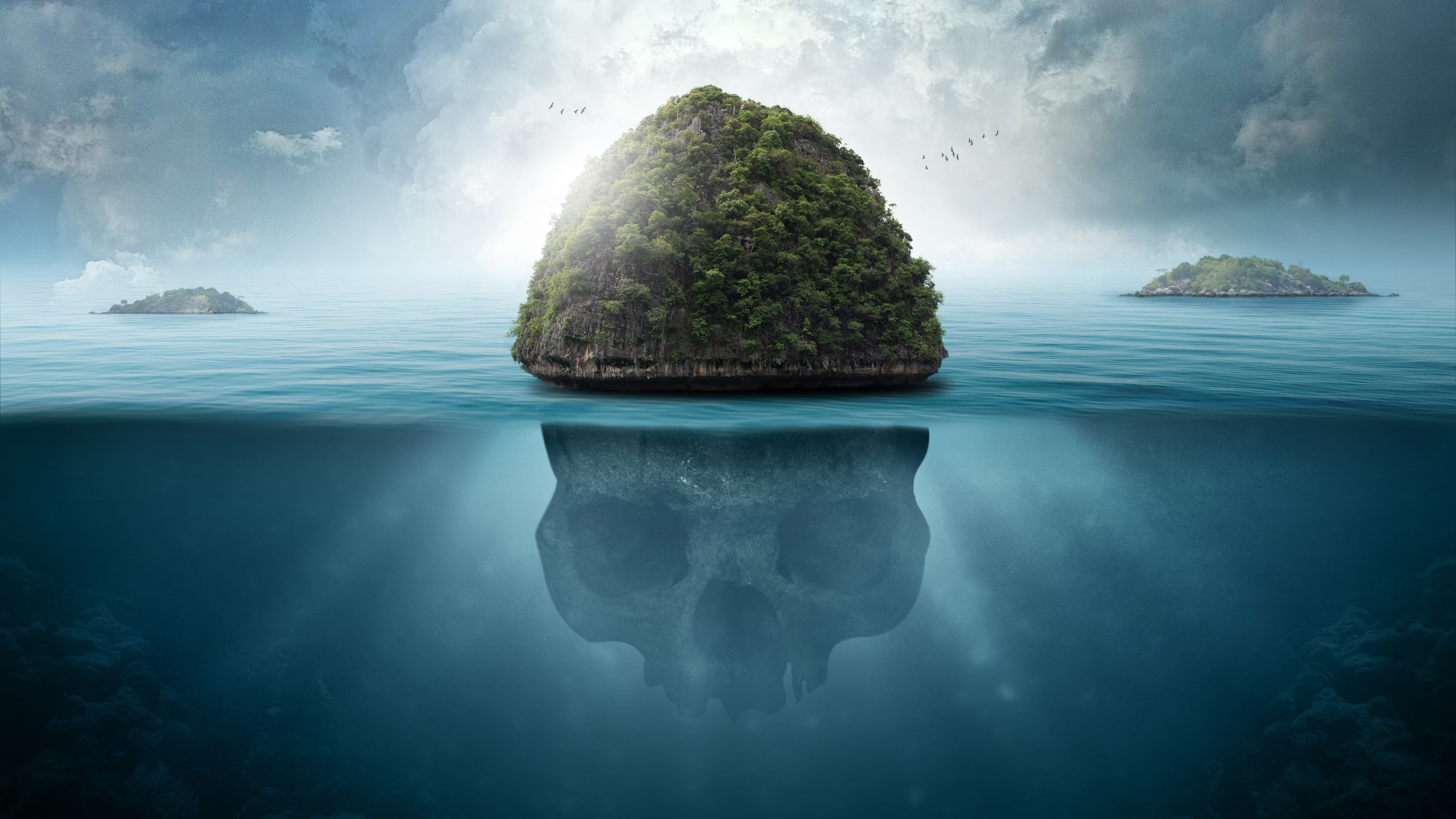 Underwater skull island wallpaper