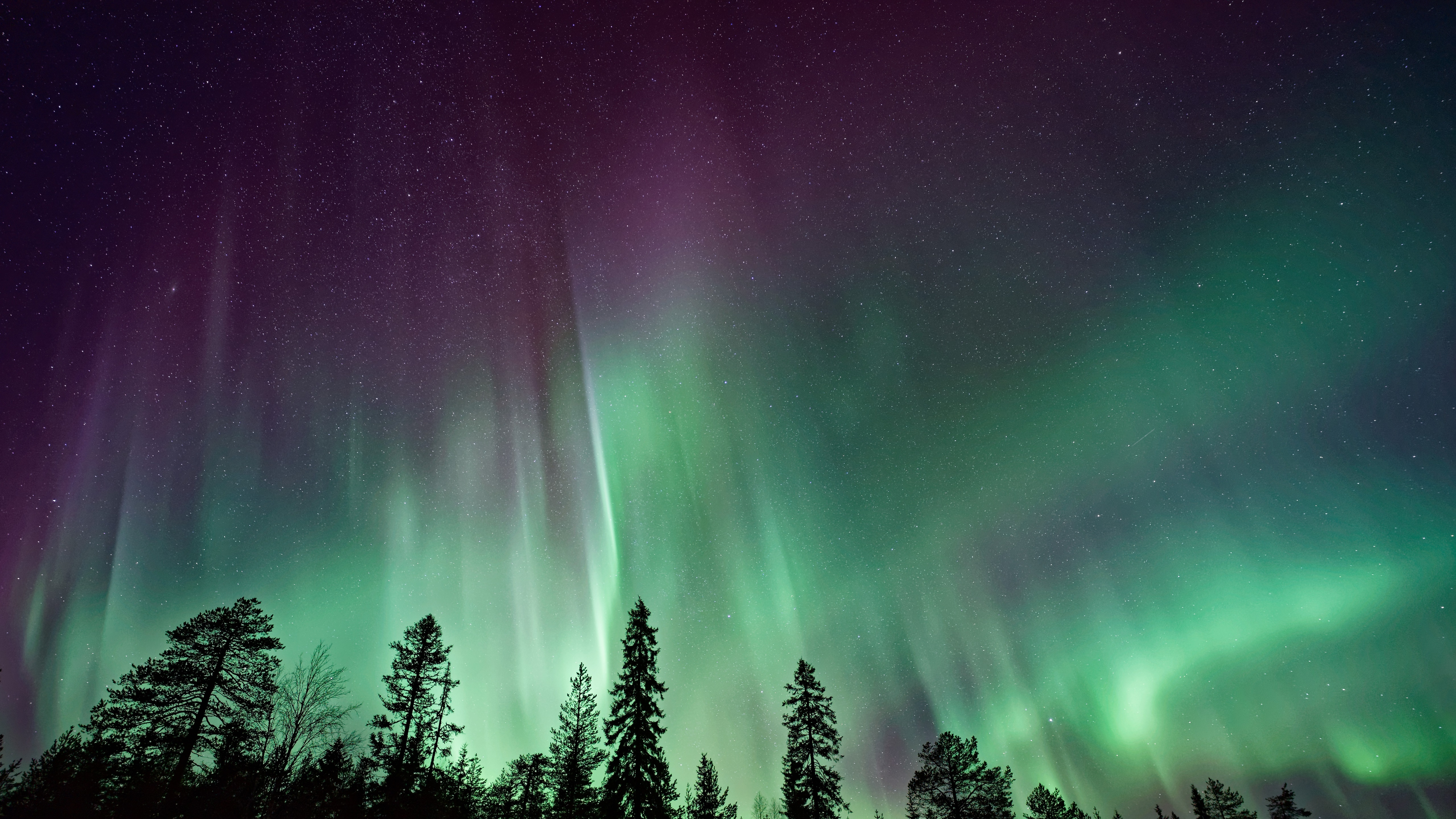 Aurora Borealis in USA wallpaper
