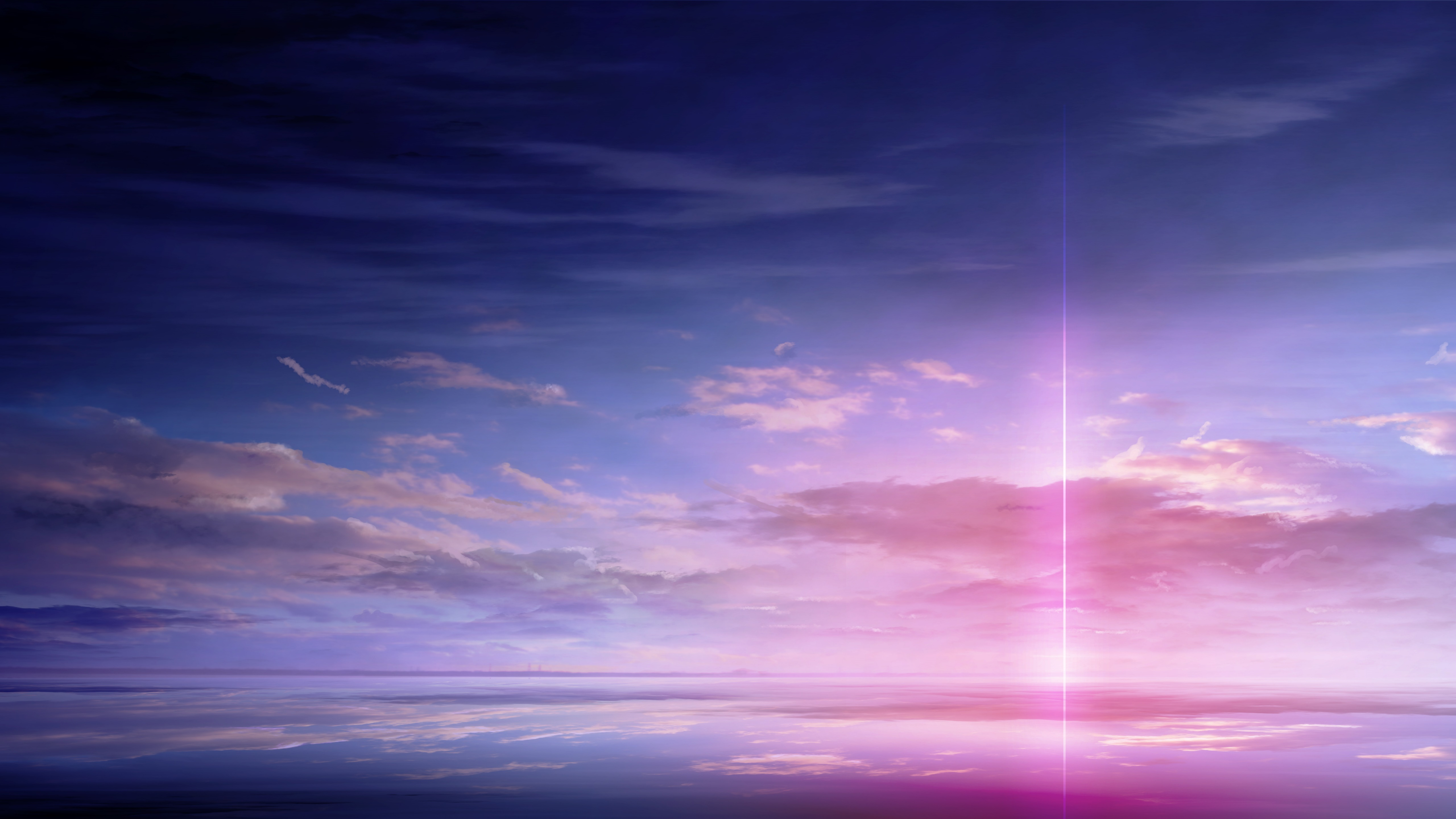 Pink Anime Sky 5K UltraHD Wallpaper - backiee - Free Ultra HD