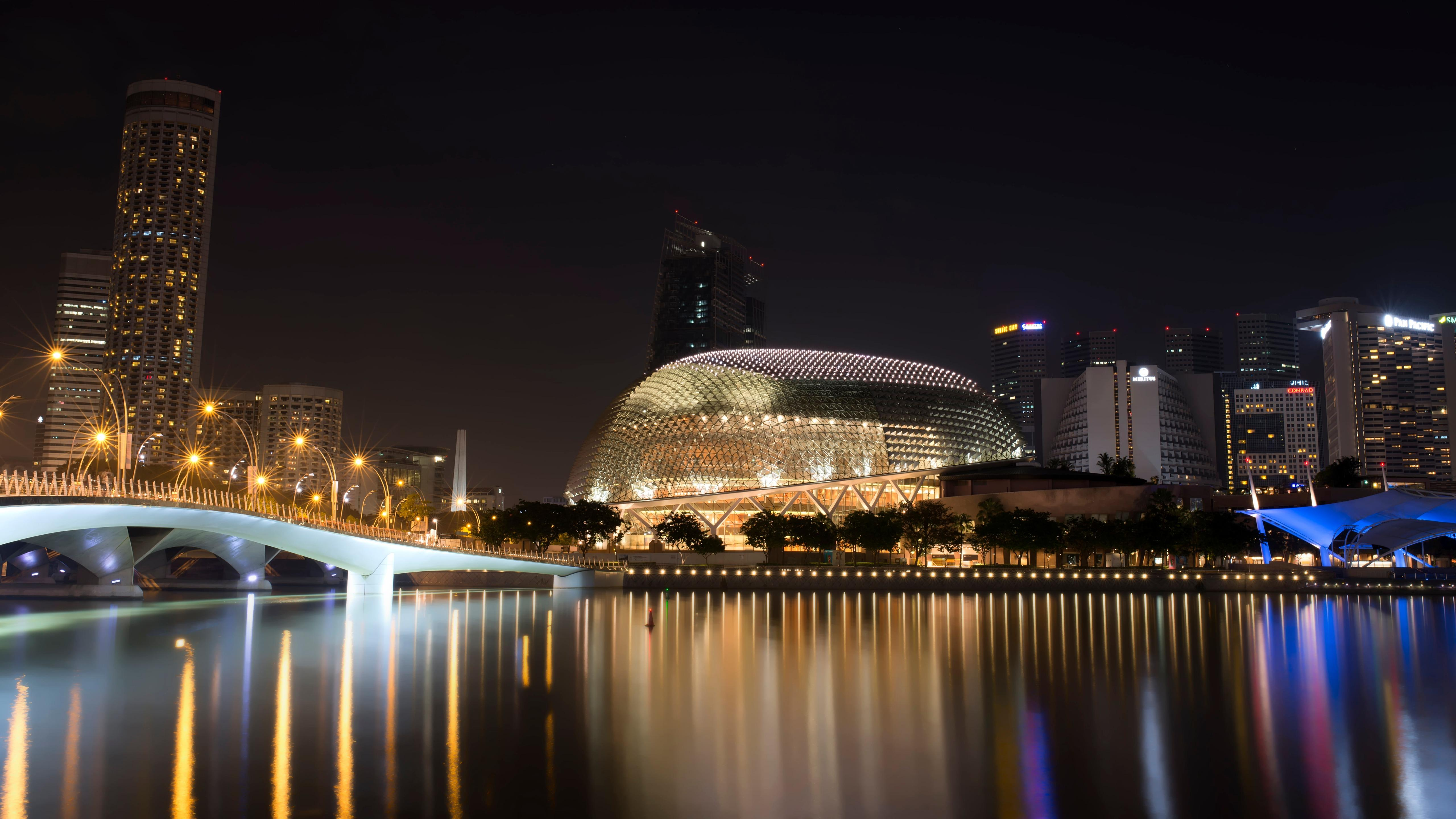 Esplanade - Theatres on the Bay, Singapore wallpaper