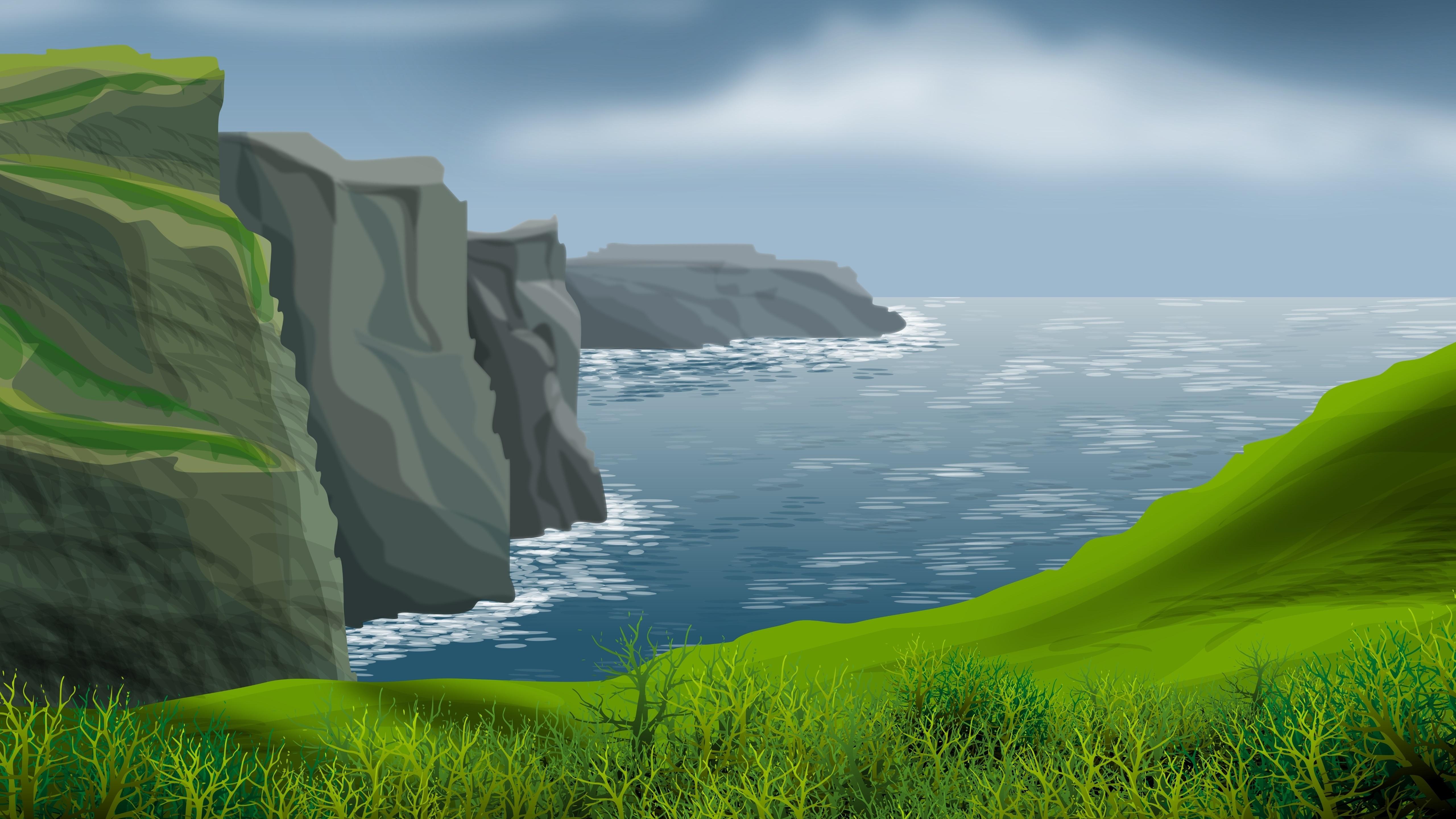 Digital seascape wallpaper
