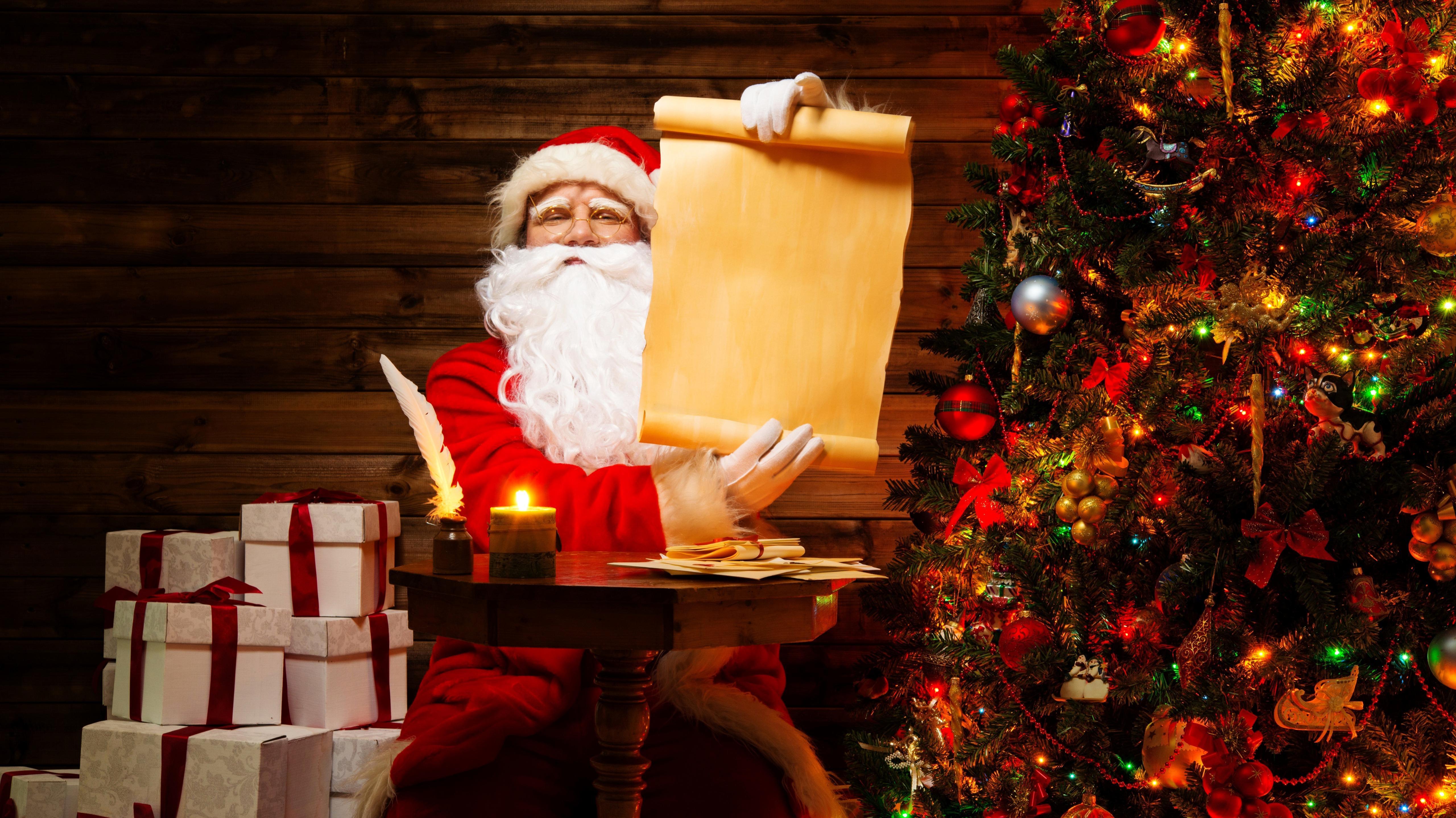 Naughty or Nice List of Santa Clauses wallpaper