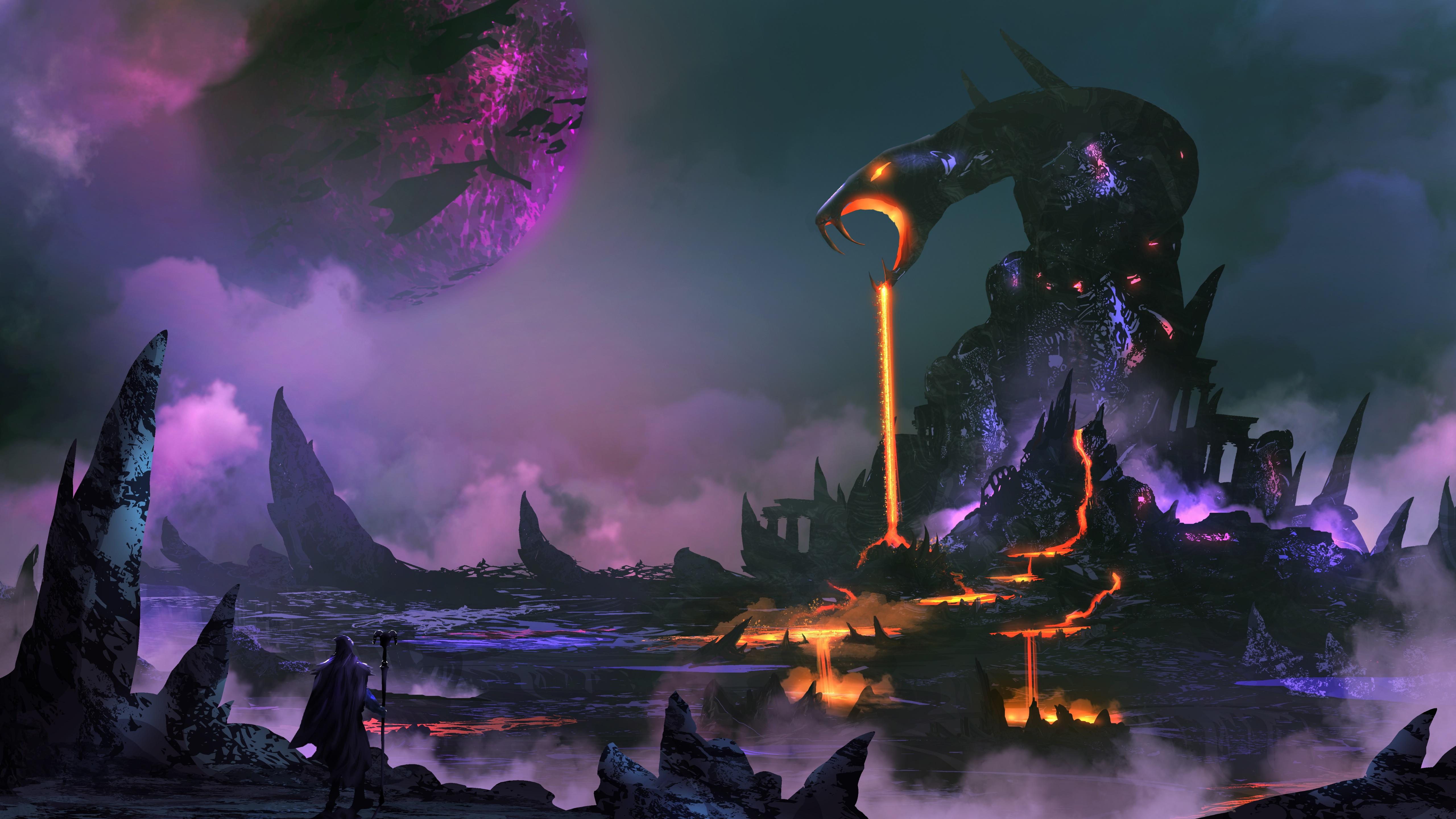 Lava Monster wallpaper