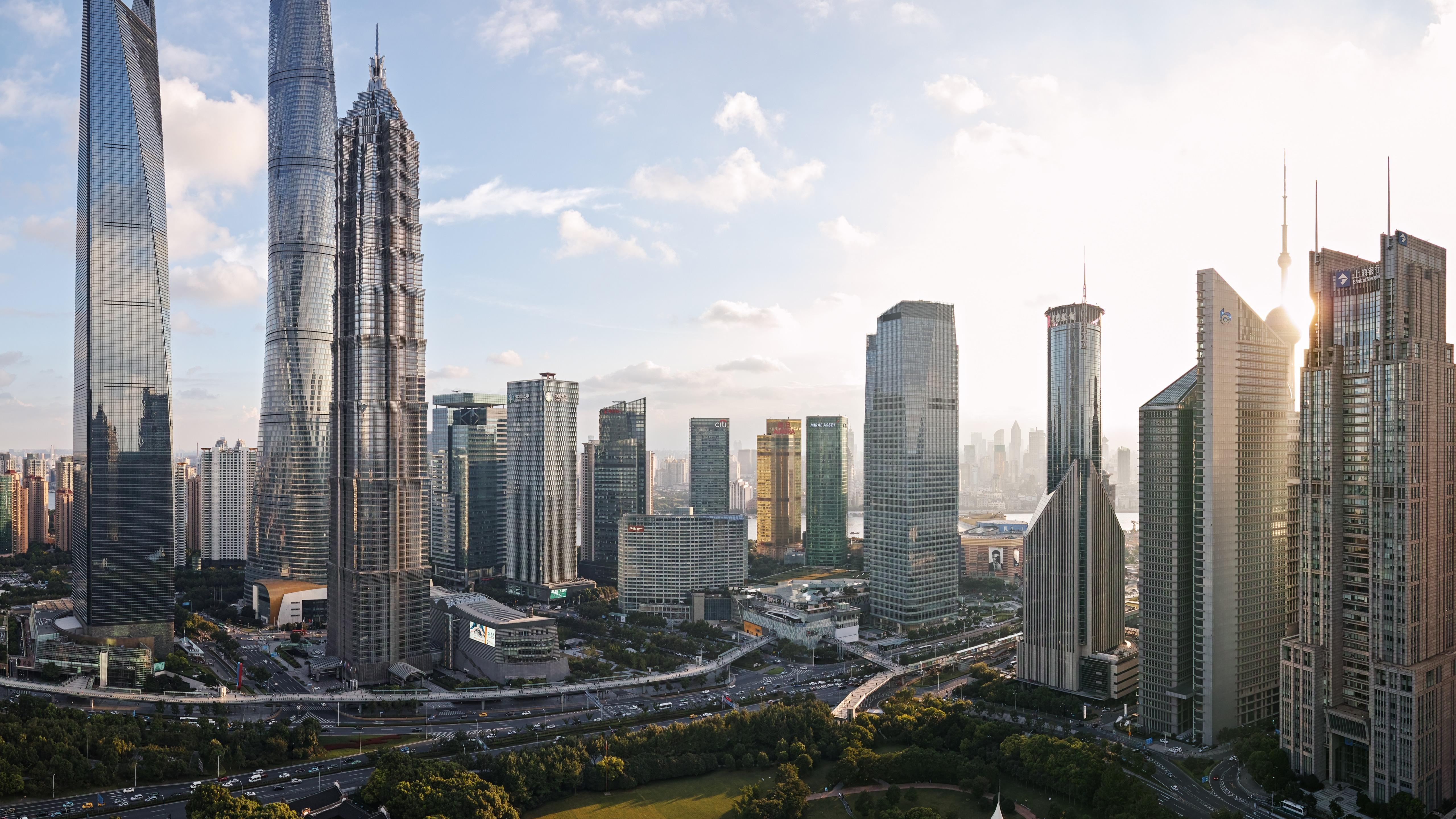 Business District of Shanghai wallpaper