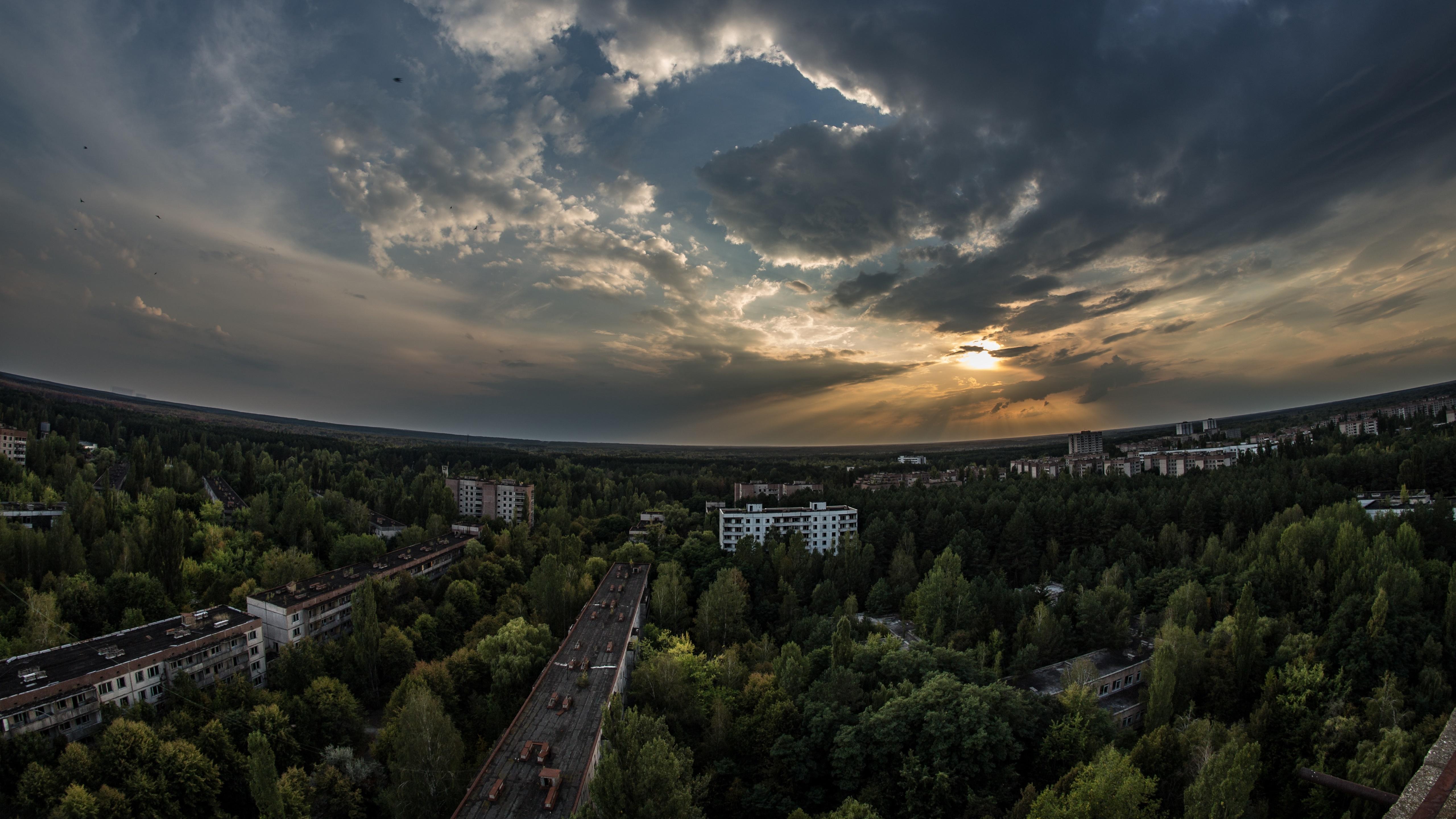 Pripyat landscape nowdays wallpaper