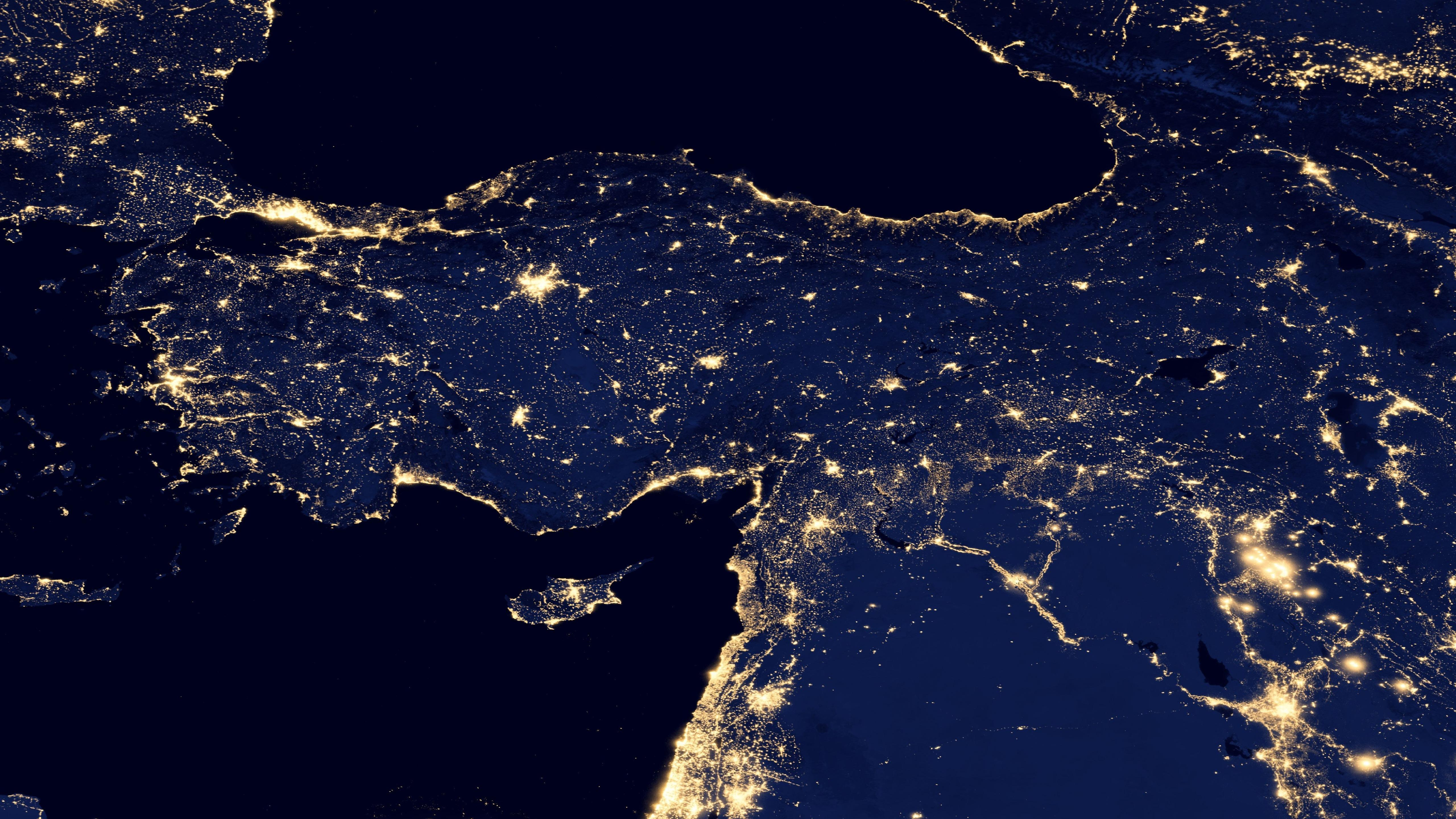 Night Lights of Turkey v2012 wallpaper