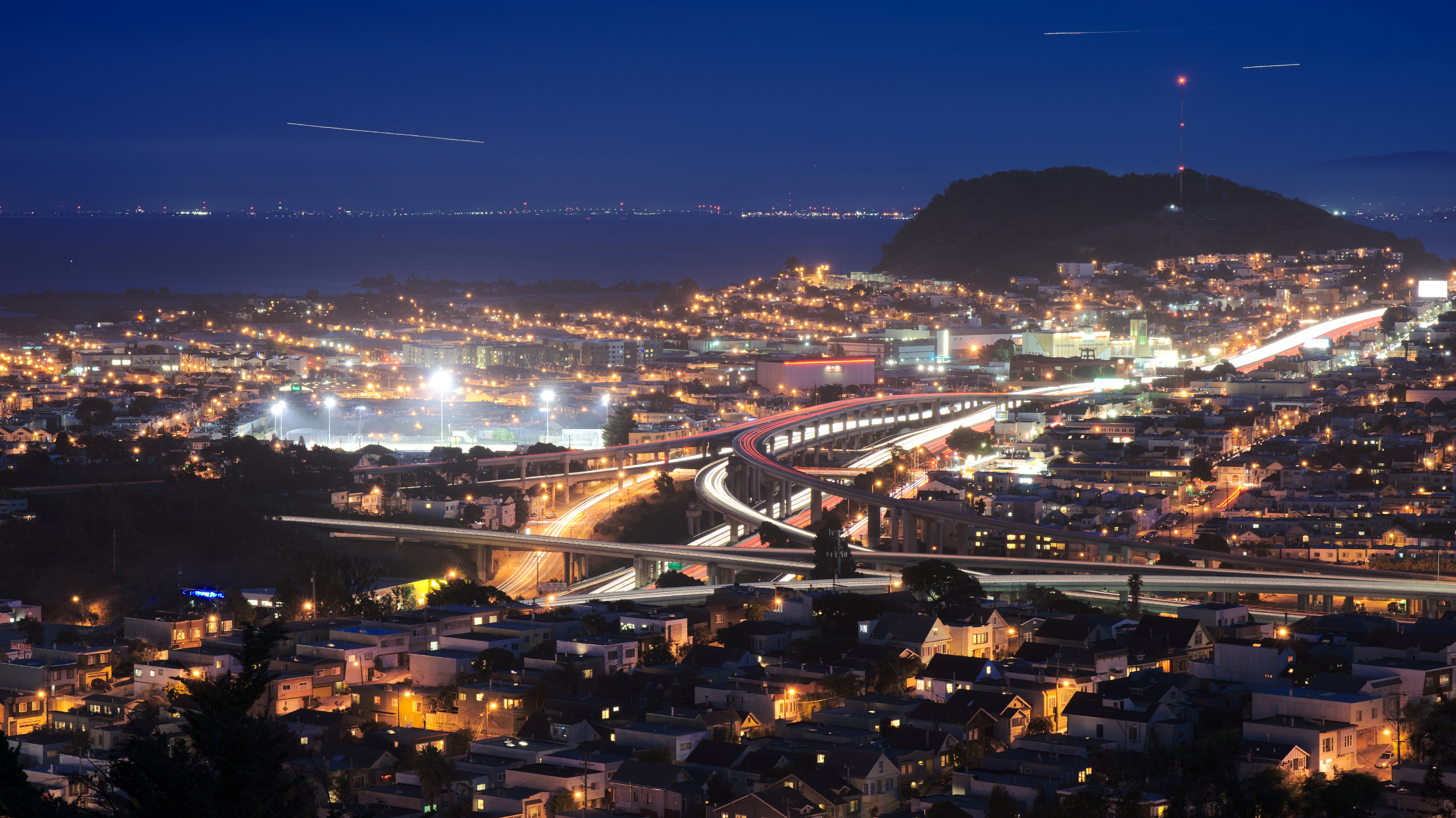 US Route 101 & Interstate 280 in San Francisco wallpaper