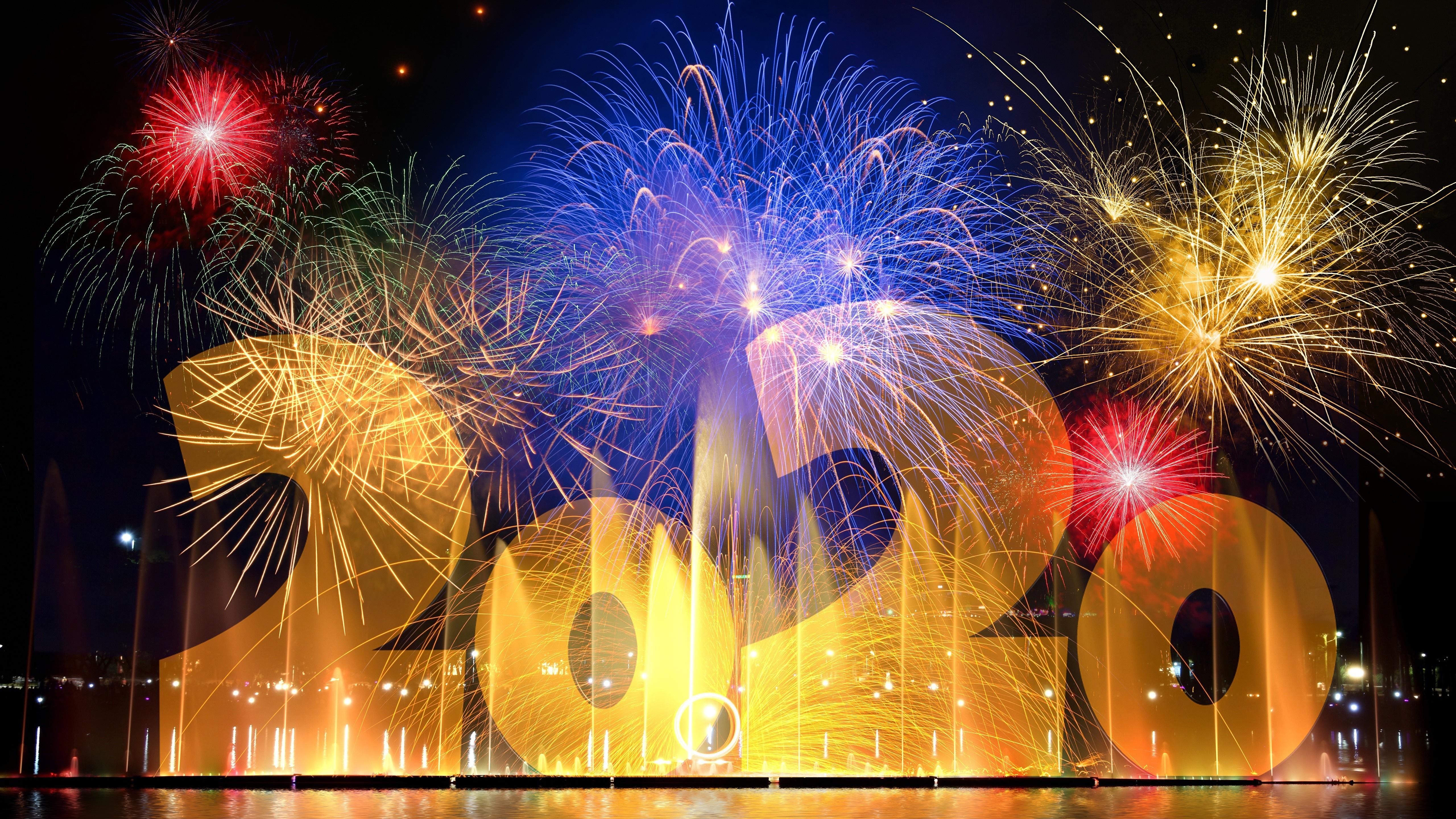 2020 New Year fireworks wallpaper