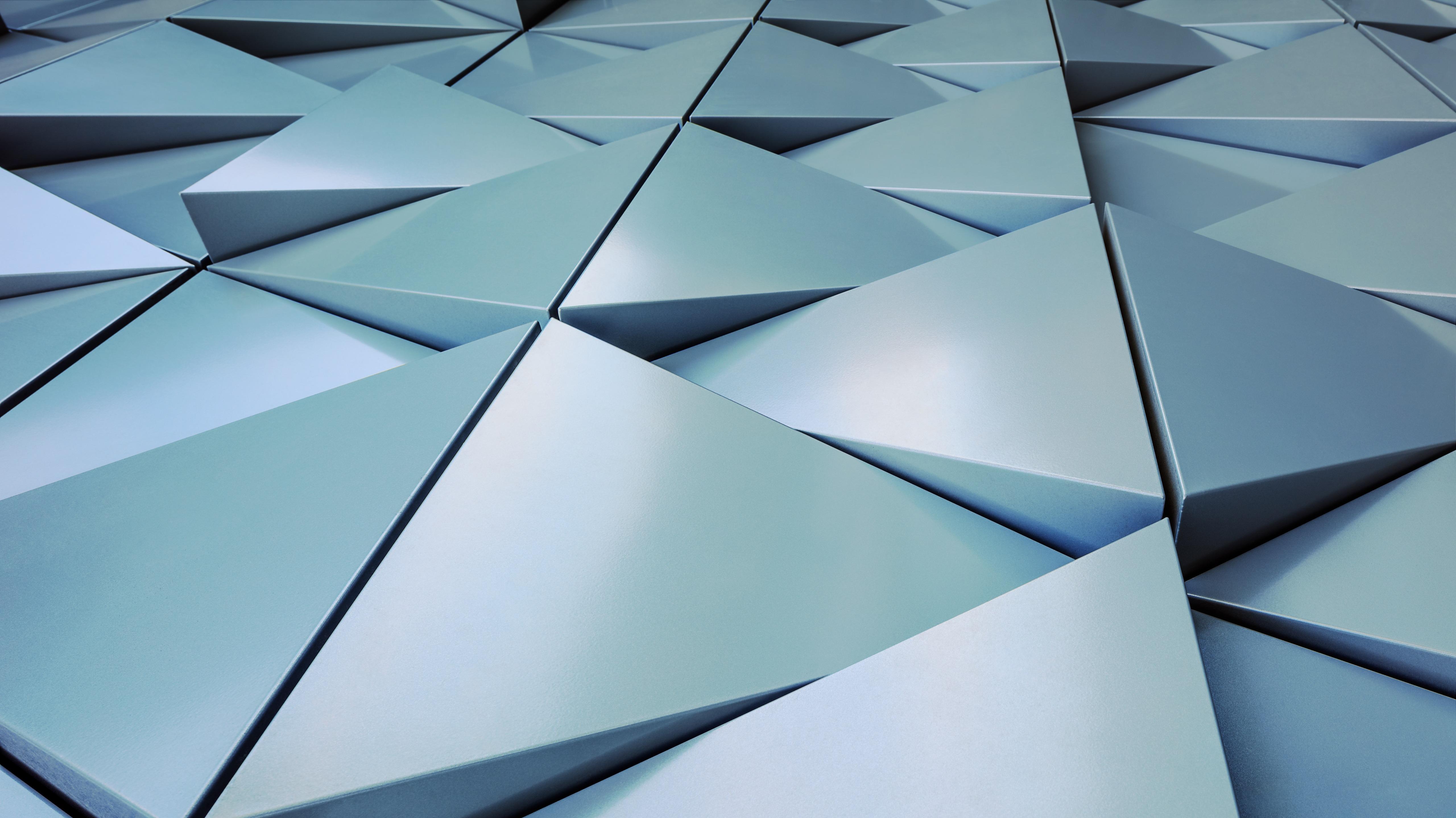 3D silver triangles wallpaper