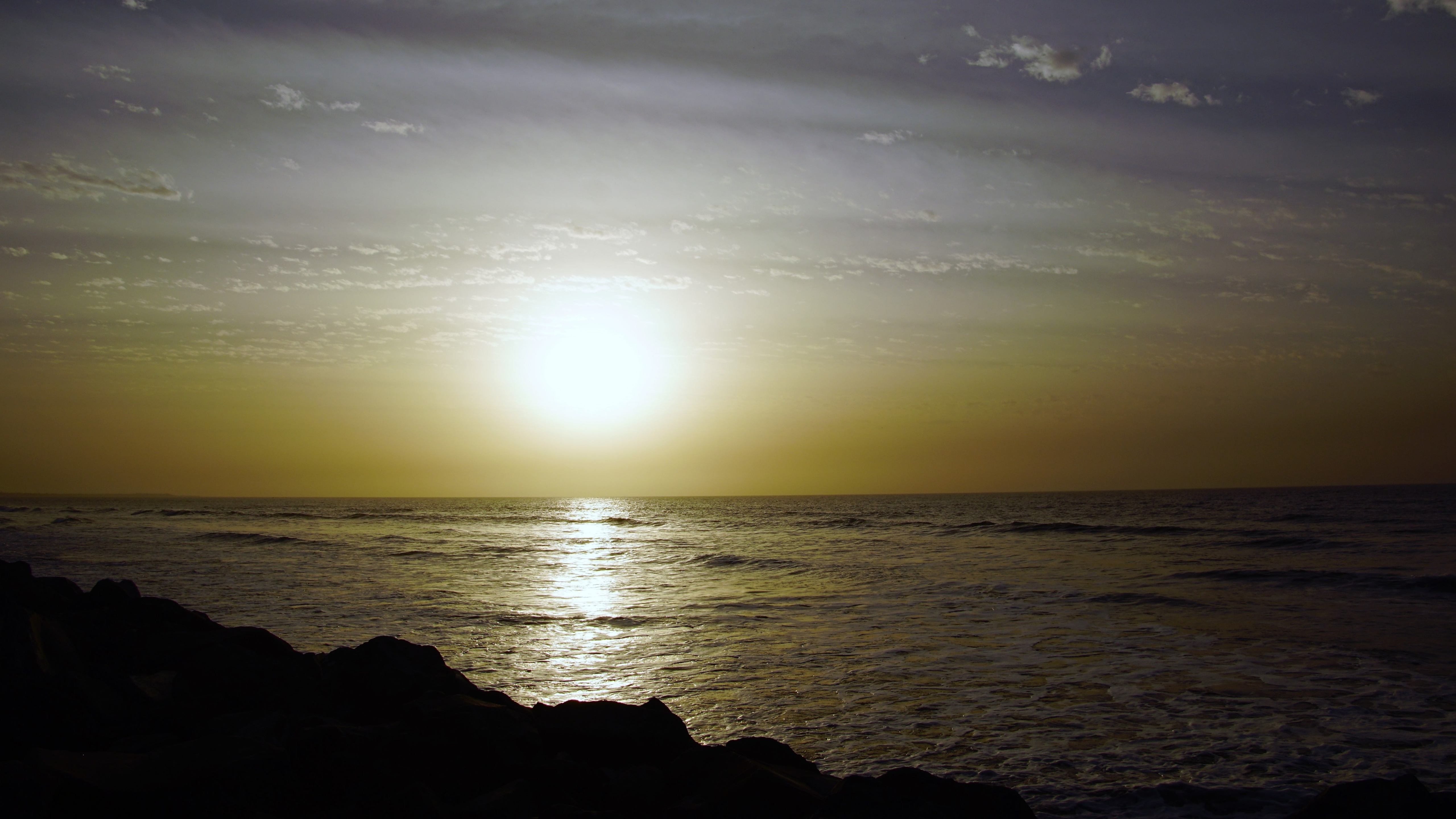 Sunset by the sea in Banjul, Gambia wallpaper