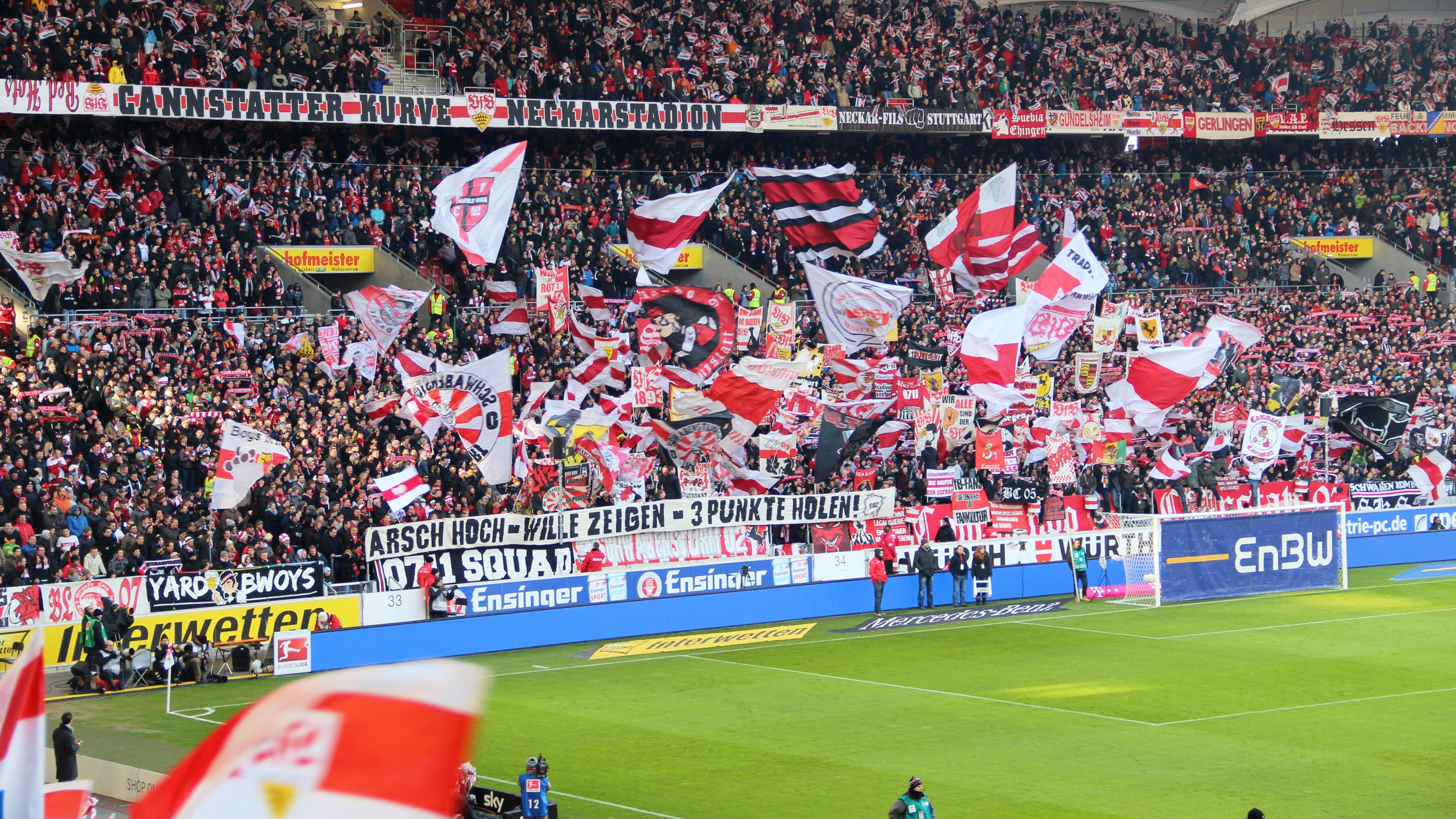 Crowd at Mercedes-Benz Arena in Stuttgart wallpaper