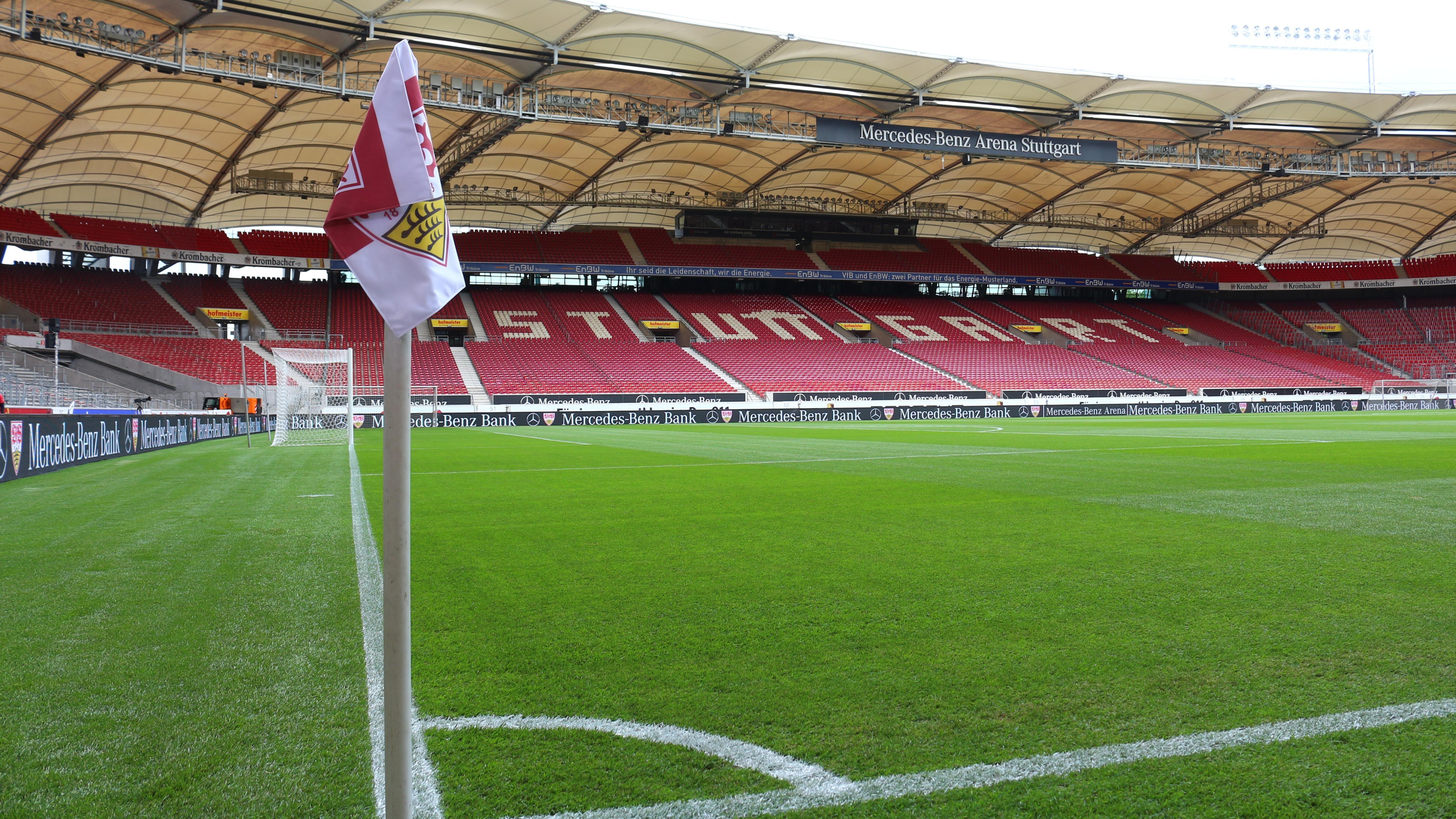 Field at Mercedes-Benz Arena in Stuttgart wallpaper