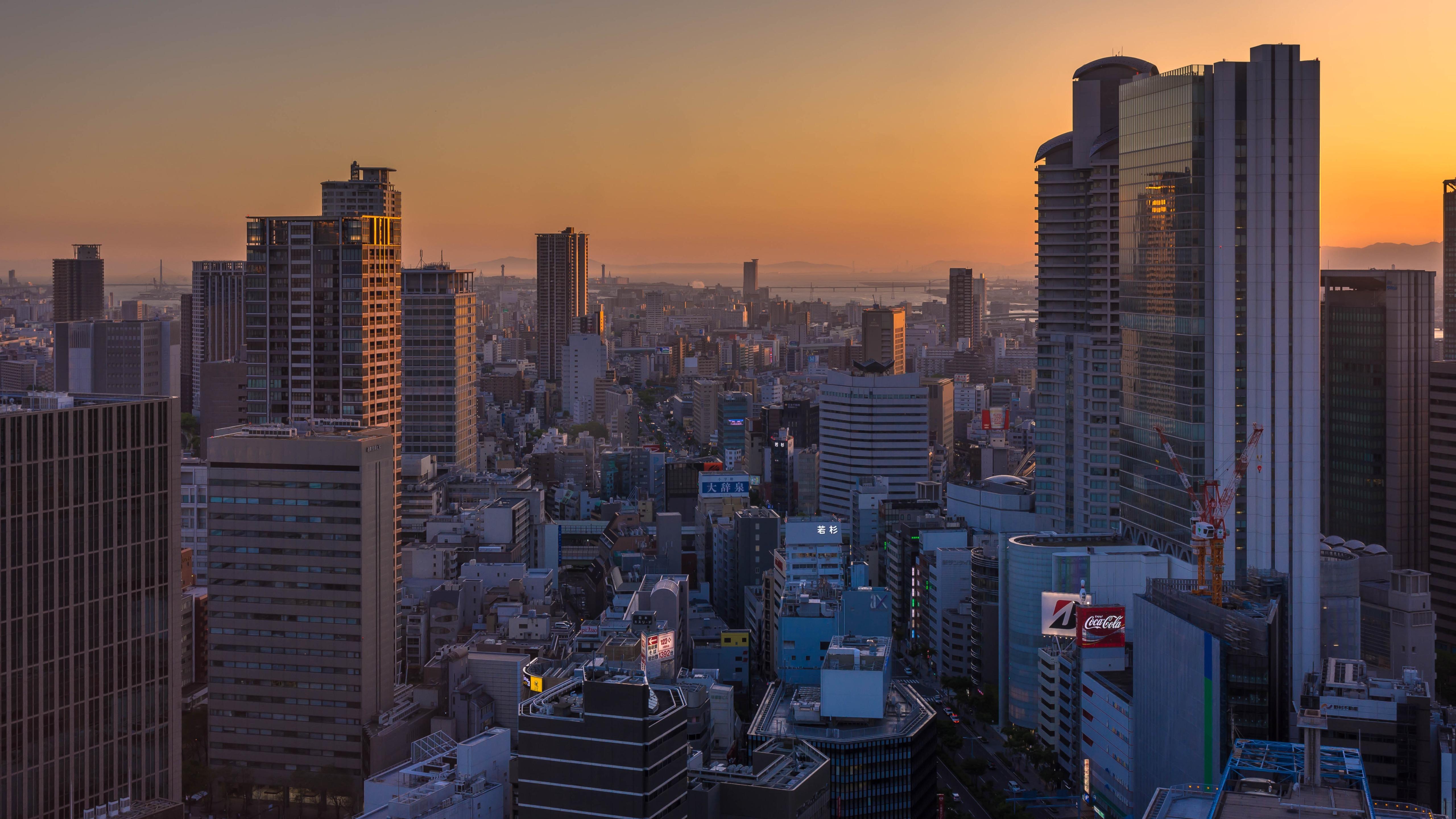 Osaka in the Morning wallpaper