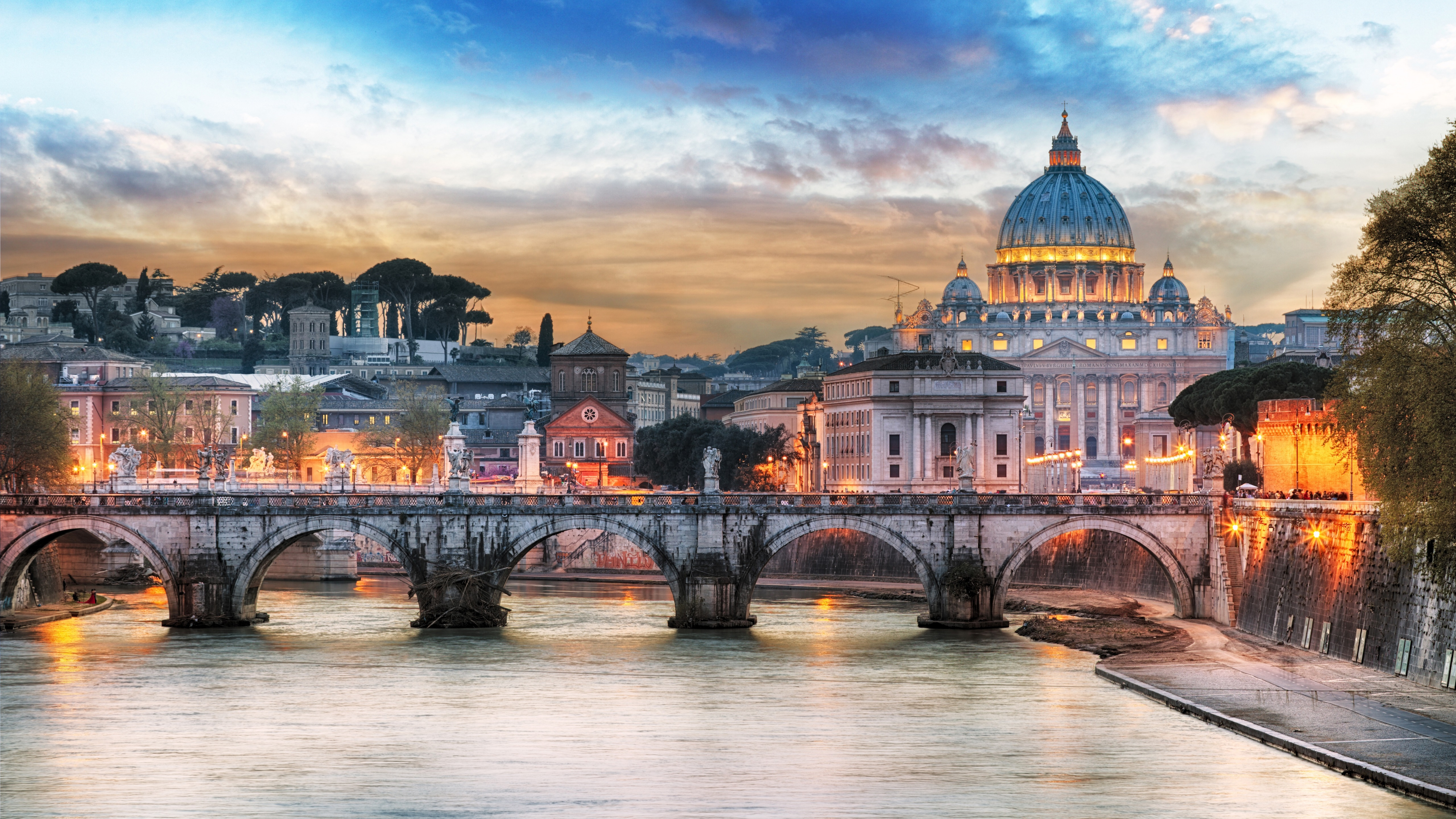 St. Angelo Bridge, Rome wallpaper