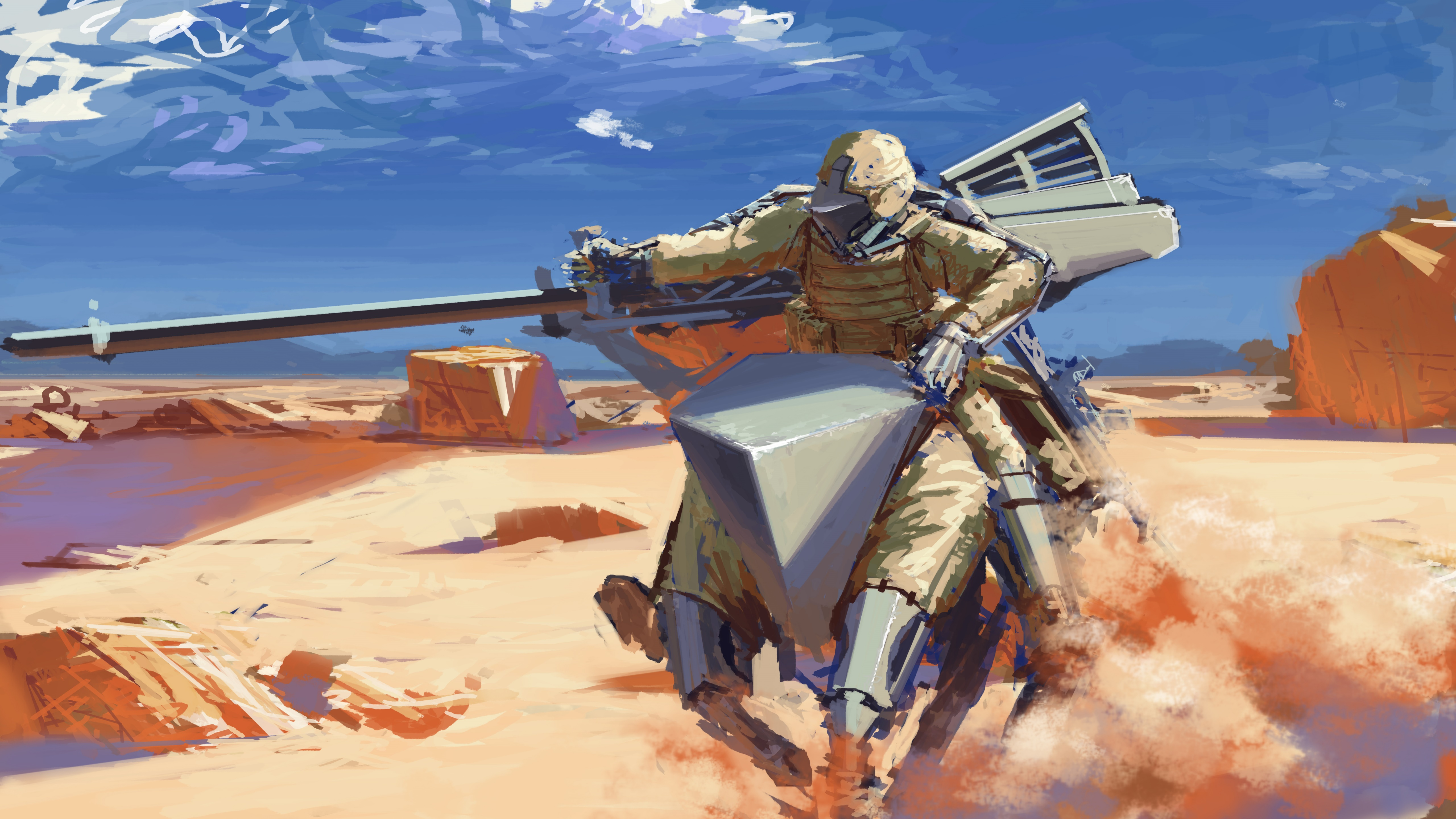 Sci-fi warrior wallpaper