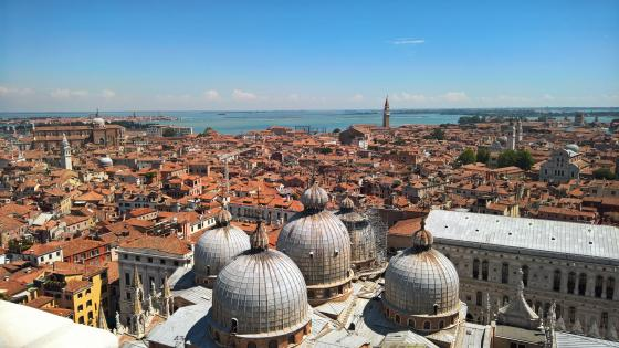 Venice roofs wallpaper