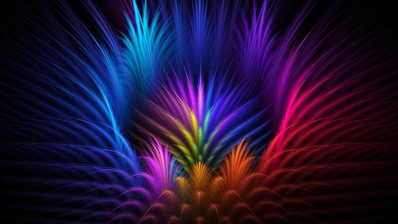 Colorful digital art wallpaper