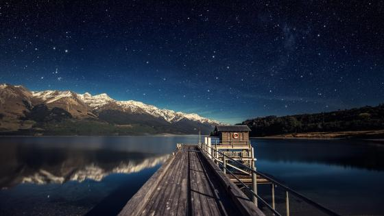Lake Wakatipu Starry night sky ✨ wallpaper