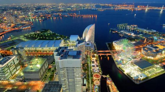 Yokohama lights wallpaper