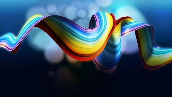 Rainbow colored strip  wallpaper