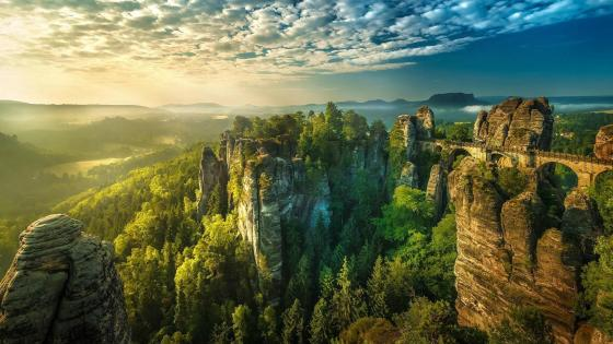 Saxon Switzerland National Park wallpaper