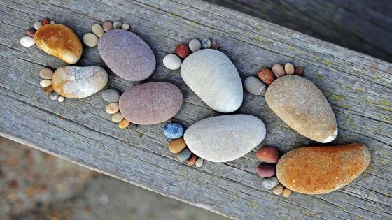 Stone footprint wallpaper