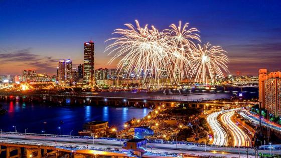 Seoul International Fireworks Festival wallpaper