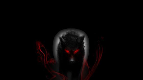 Red-eyed werewolf wallpaper