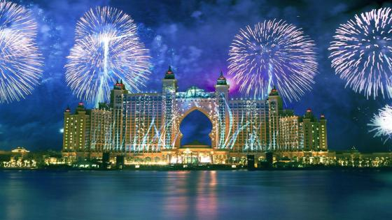 Fireworks in Dubai wallpaper