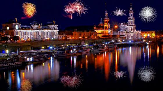 New Year's Eve in Dresden wallpaper