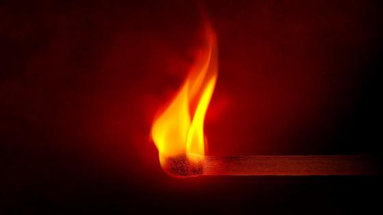 Burning matchstick wallpaper