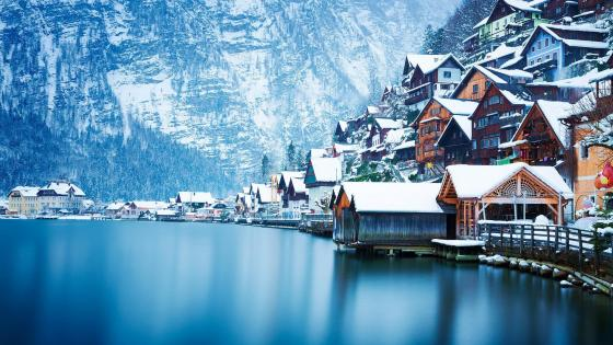 Bad Goisern in winter wallpaper