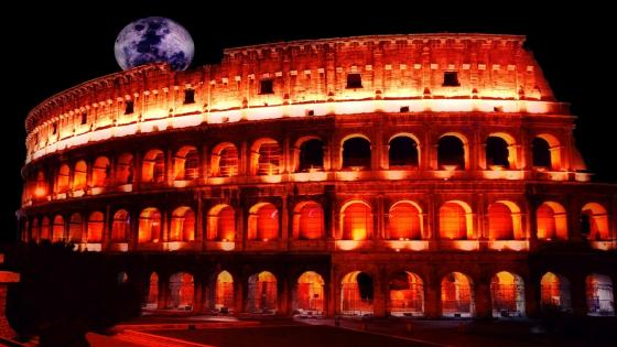 Colosseum at night - Rome, Italy wallpaper