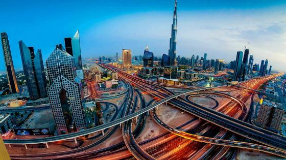 Dubai roads wallpaper