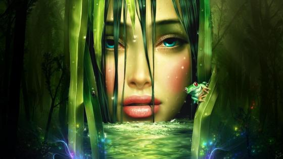 Fairy of the lake - Fantasy art wallpaper