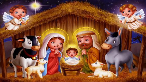 Baby Jesus Christ is born wallpaper