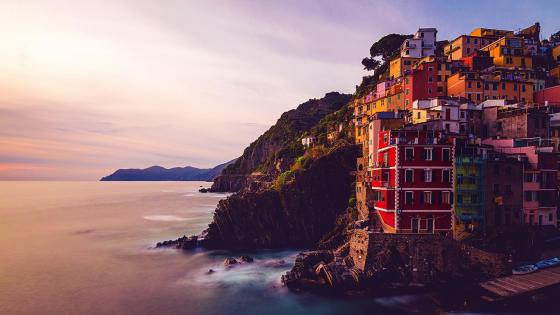 Riomaggiore sunset wallpaper