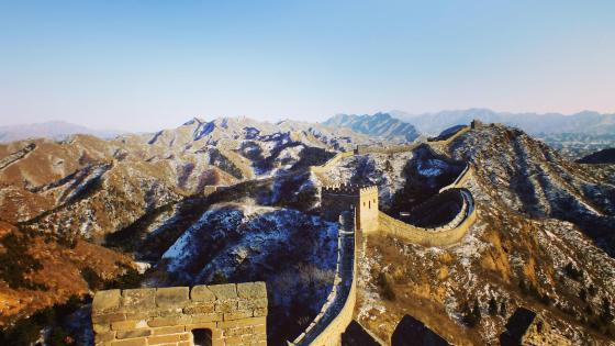 Great Wall photograph wallpaper
