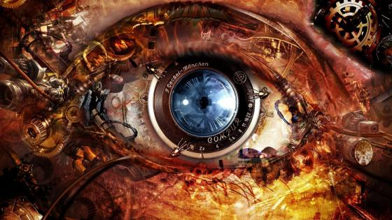 Electronic Eye - Steampunk art wallpaper