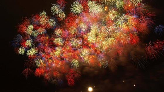 Colorful fireworks wallpaper