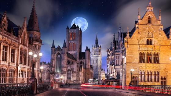 Saint Nicholas Church - Ghent wallpaper