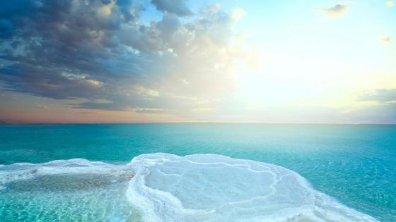 Dead Sea salt wallpaper