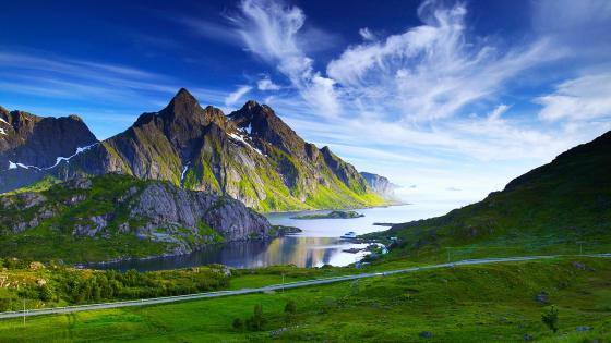 Nordic landscape wallpaper