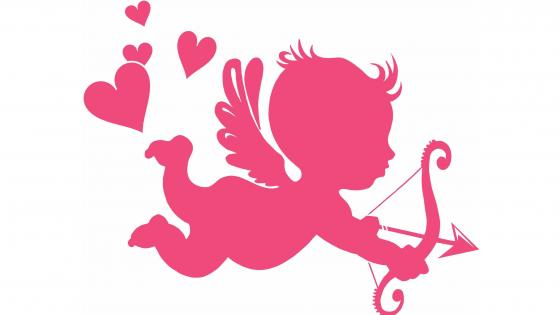 Pink cupid image wallpaper
