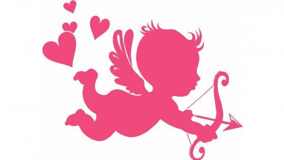 Pink cupid image wallpaper